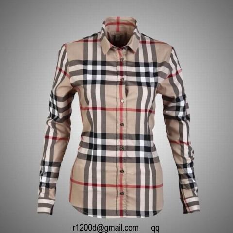 f7292f5598e Je veux trouver une belle chemise femme et agréable à porter pas cher ICI Chemise  femme imitation burberry