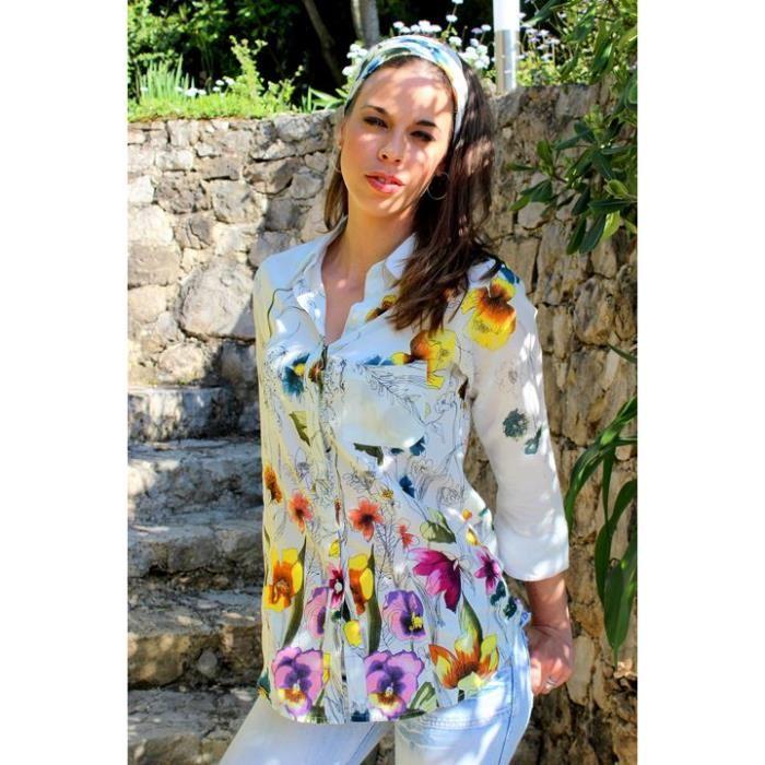 8552fe87be152 Je veux trouver une belle chemise femme et agréable à porter pas cher ICI  Chemise fleurie femme