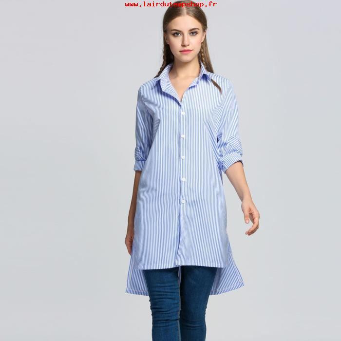 Je veux trouver une belle chemise femme et agréable à porter pas cher ICI  Chemise femme longue 2017 cf331fc58509