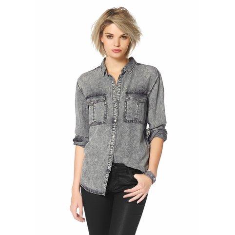 Je veux trouver une belle chemise femme et agréable à porter pas cher ICI  Chemise en jean grise femme 13362fbe2bd8
