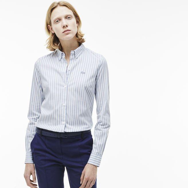 19440a43dd7c Je veux trouver une belle chemise femme et agréable à porter pas cher ICI  Chemise femme lacoste