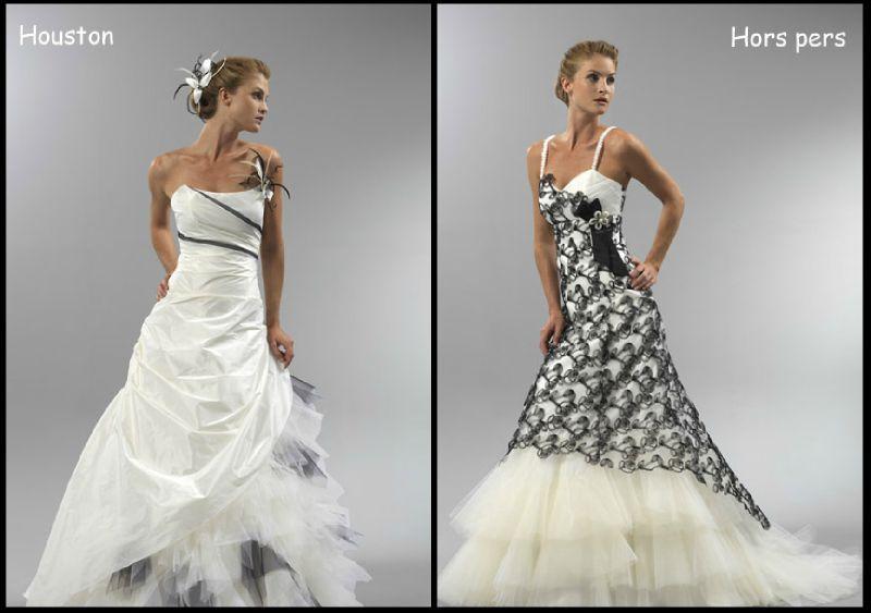 b41efa2d5730 Robe de mariée en noir et blanc - Chapka