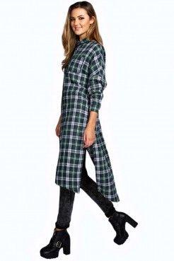 Je veux trouver une belle chemise femme et agréable à porter pas cher ICI Longue  chemise a carreaux femme 92b270ef79e