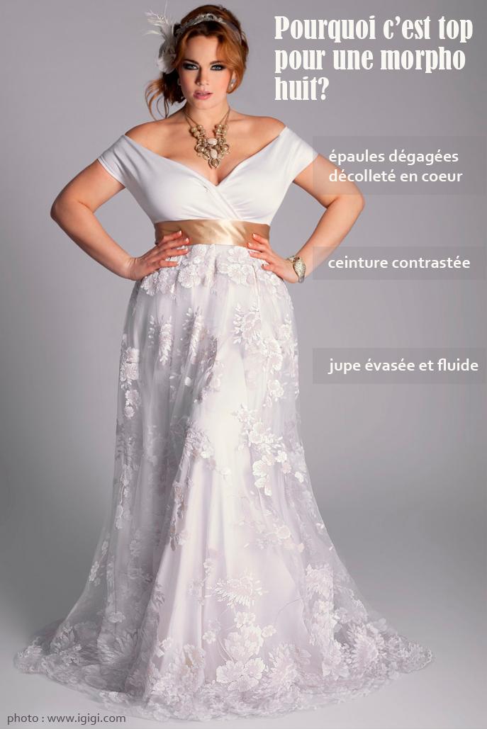 Robe de mariee pour femme ronde pas cher