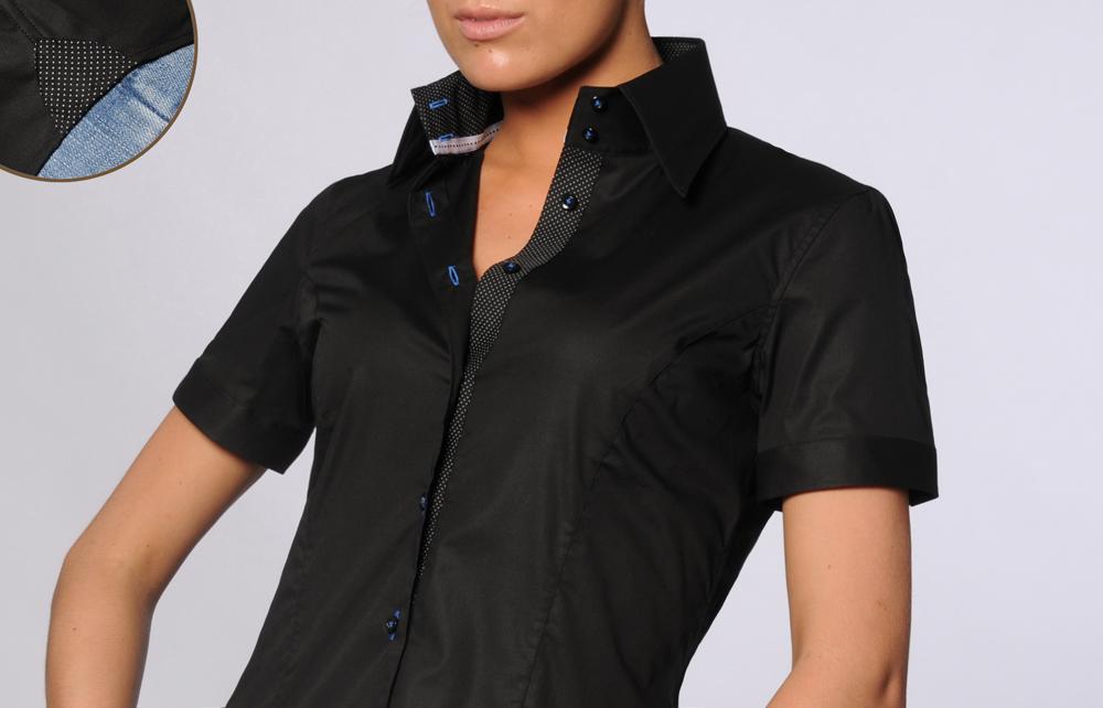 Je veux trouver une belle chemise femme et agréable à porter pas cher ICI  Chemise noire manche courte femme 8909dc356b28