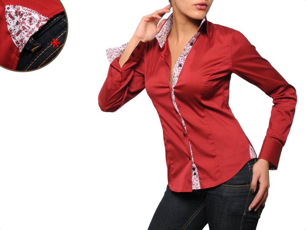 5f2987a033a25 Je veux trouver une belle chemise femme et agréable à porter pas cher ICI  Chemise femme rouge