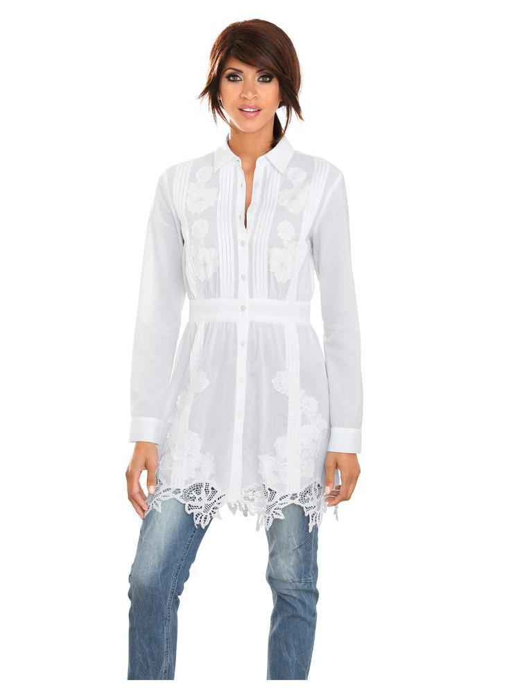 605ea9e2b83 Je veux trouver une belle chemise femme et agréable à porter pas cher ICI  Chemisier blanc long