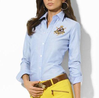 815275758ba55 Je veux trouver une belle chemise femme et agréable à porter pas cher ICI  Chemise femme ralph lauren pas cher