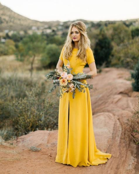 Le célèbre Robes de mariee jaune - Chapka, doudoune, pull & Vetement d'hiver #HX_36
