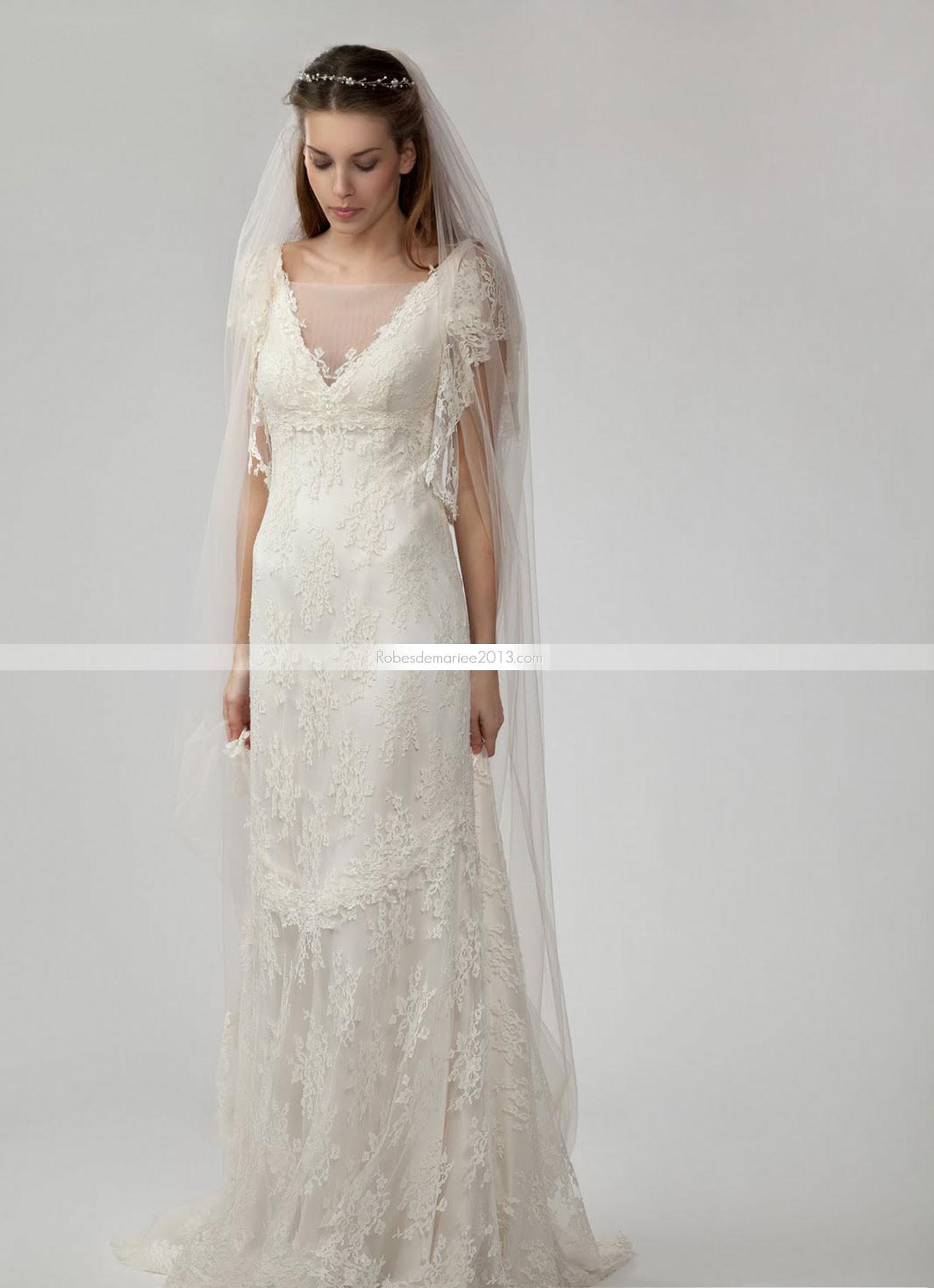 76d2964a549c2 Robes de mariée style empire - Chapka
