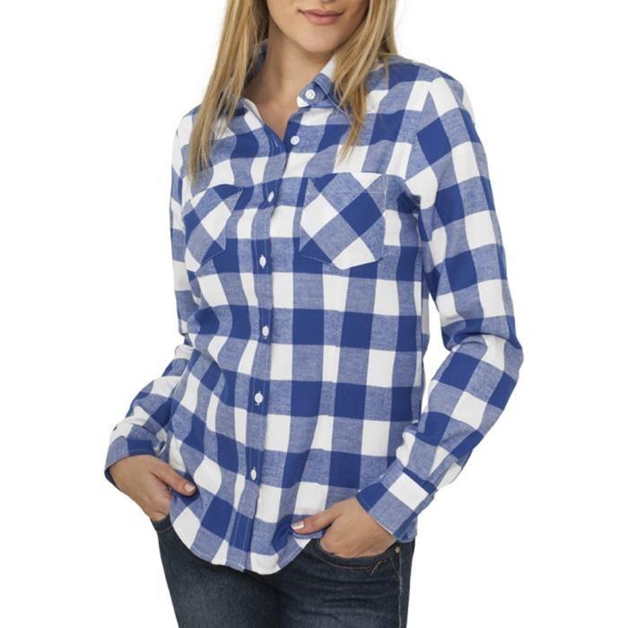 Je veux trouver une belle chemise femme et agréable à porter pas cher ICI  Chemise a carreaux femme bleu 8a32f266d26c