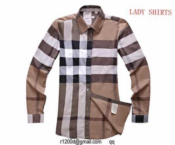 167413179d1e Je veux trouver une belle chemise femme et agréable à porter pas cher ICI Chemise  burberry femme xxl