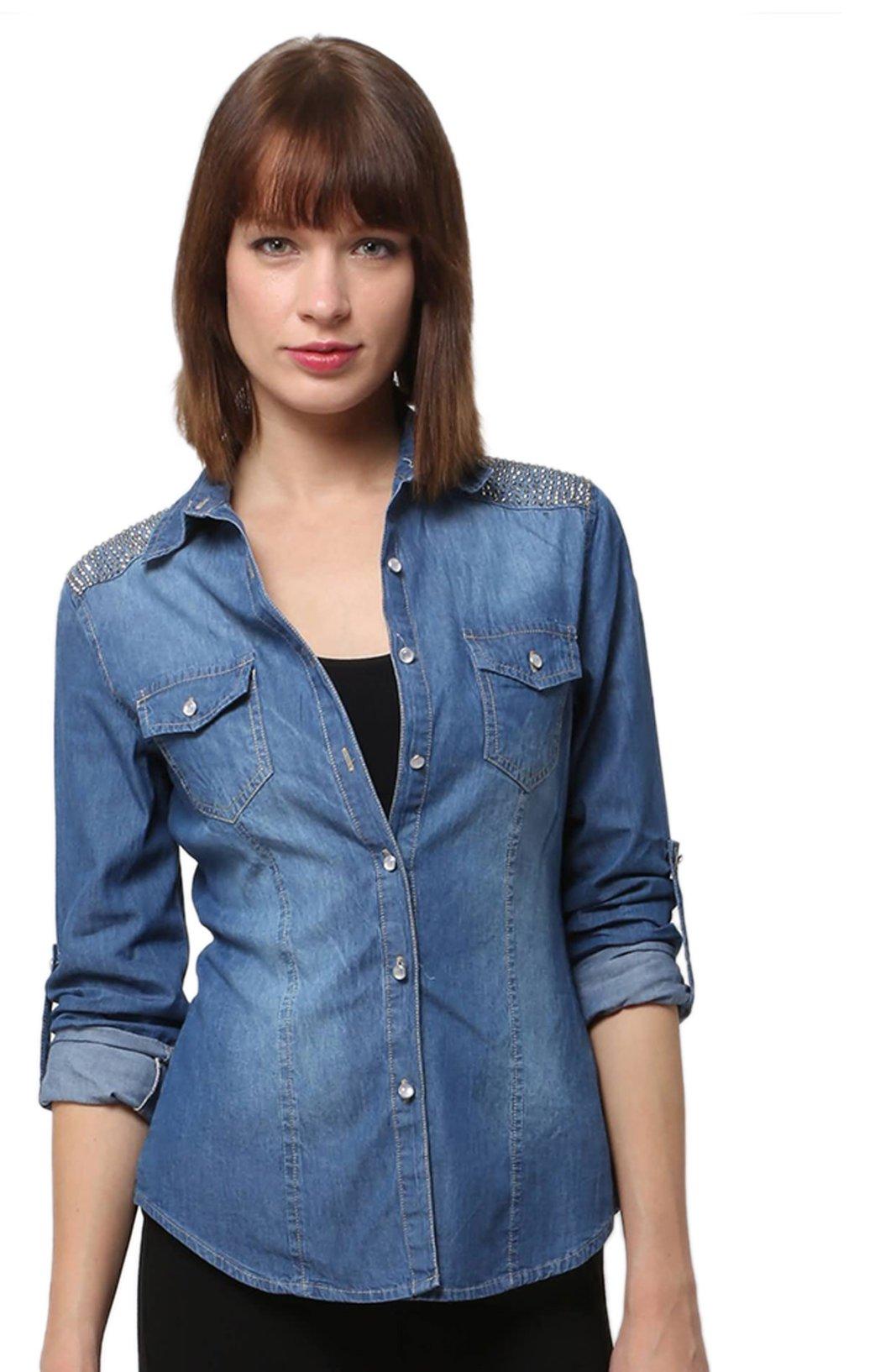 cfaf87a198b1 Je veux trouver une belle chemise femme et agréable à porter pas cher ICI  Chemise en jean femme xl
