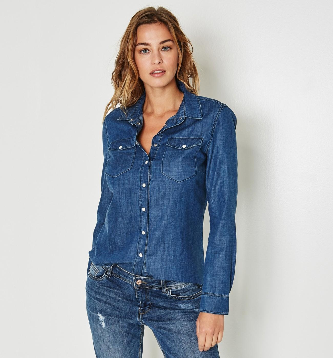 f5d6ddeab4164 Je veux trouver une belle chemise femme et agréable à porter pas cher ICI  Chemise jean