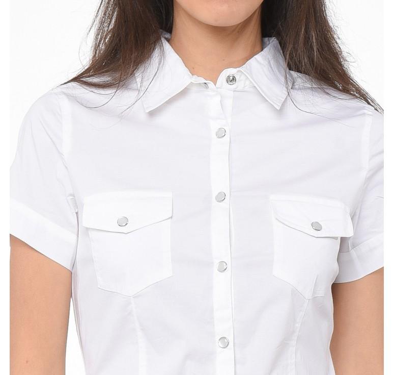 Je veux trouver une belle chemise femme et agréable à porter pas cher ICI  Chemise blanche manche courte femme 8d308370bcfa