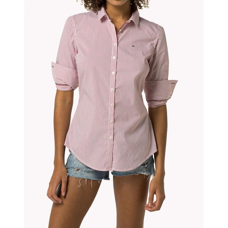 5588ec149cd15 Je veux trouver une belle chemise femme et agréable à porter pas cher ICI  Chemise femme tommy hilfiger