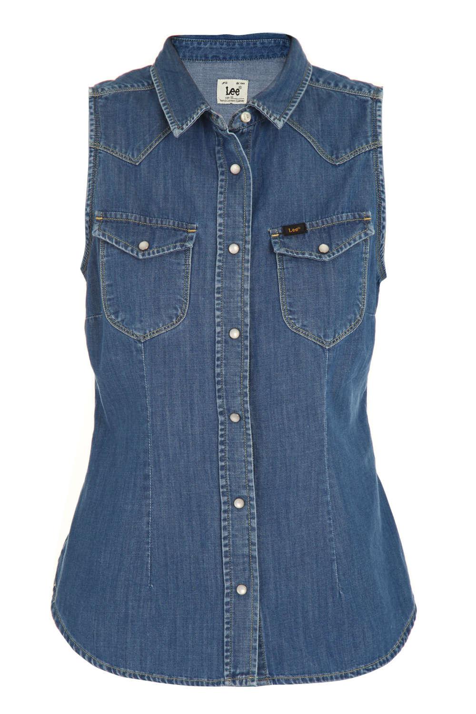 2672f7e8e47ed Je veux trouver une belle chemise femme et agréable à porter pas cher ICI  Chemise jean sans manche femme