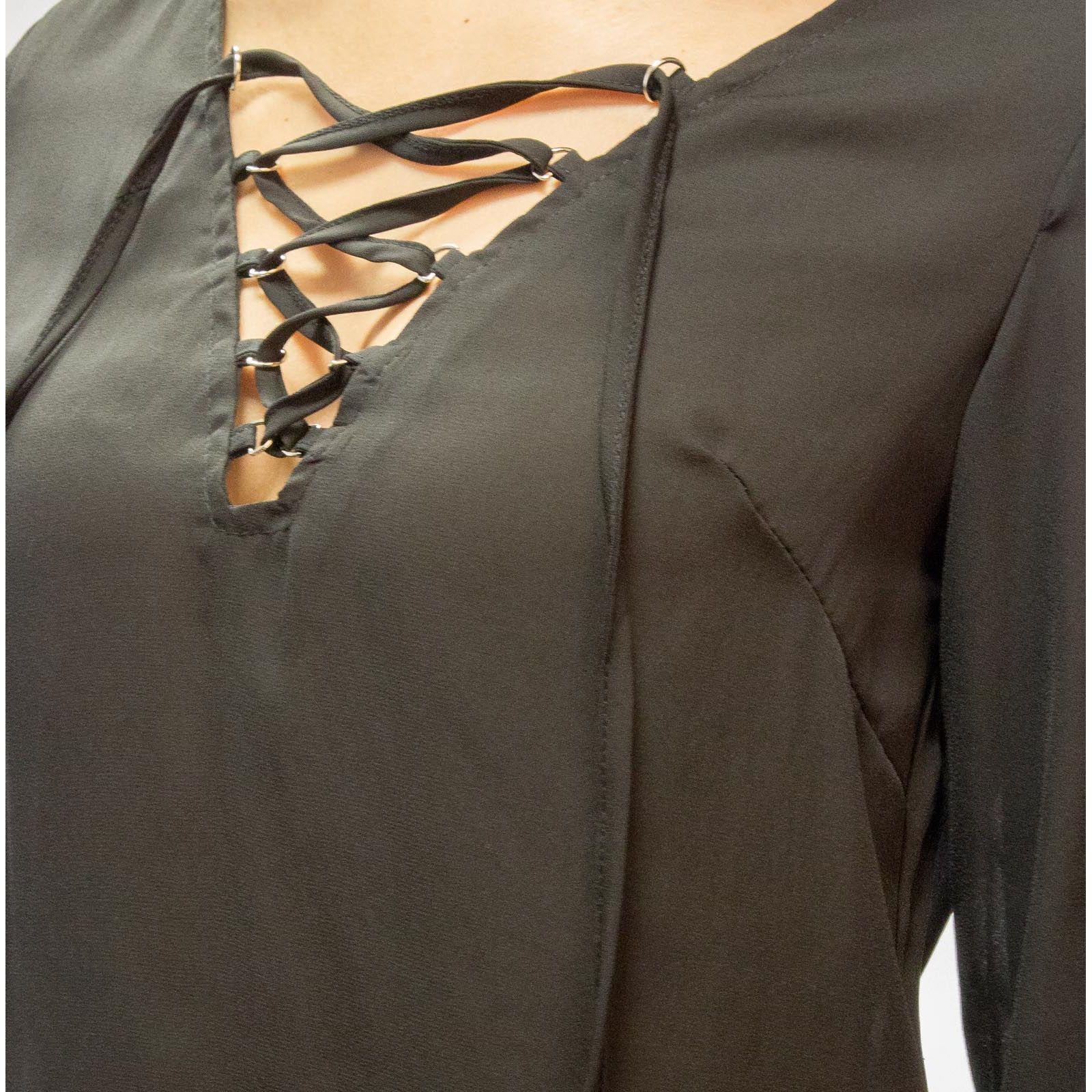 a92f9b0e0c8 Je veux trouver une belle chemise femme et agréable à porter pas cher ICI  Chemisier à lacets femme
