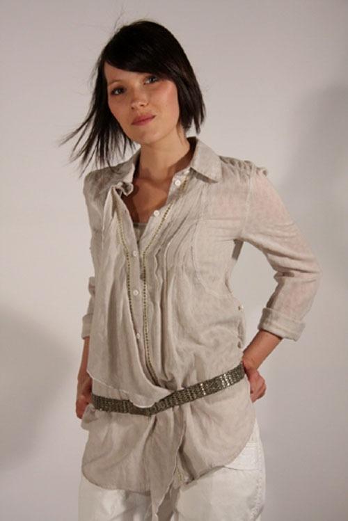 Chemise femme en voile de coton - Chapka, doudoune, pull   Vetement ... 889ca054eaf