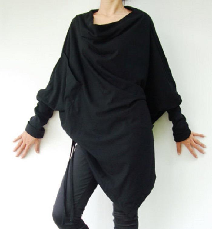 9e2040db8de Je veux trouver une belle chemise femme et agréable à porter pas cher ICI Chemise  longue noir