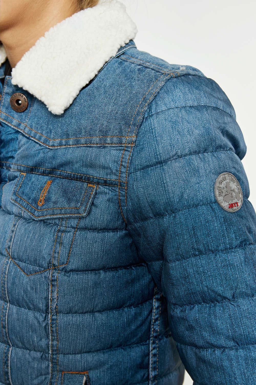 29bfc2a59478b Je veux trouver une doudoune de marque femme qui tient chaud pas cher ICI Doudoune  jott femme bleu jean