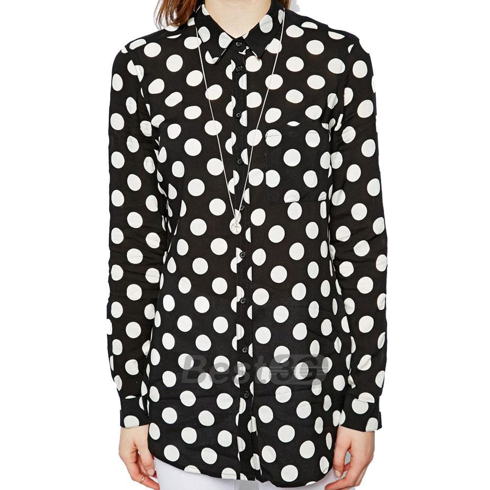 Je veux trouver une belle chemise femme et agréable à porter pas cher ICI  Chemise femme noire a pois blancs 8e93de6f8757