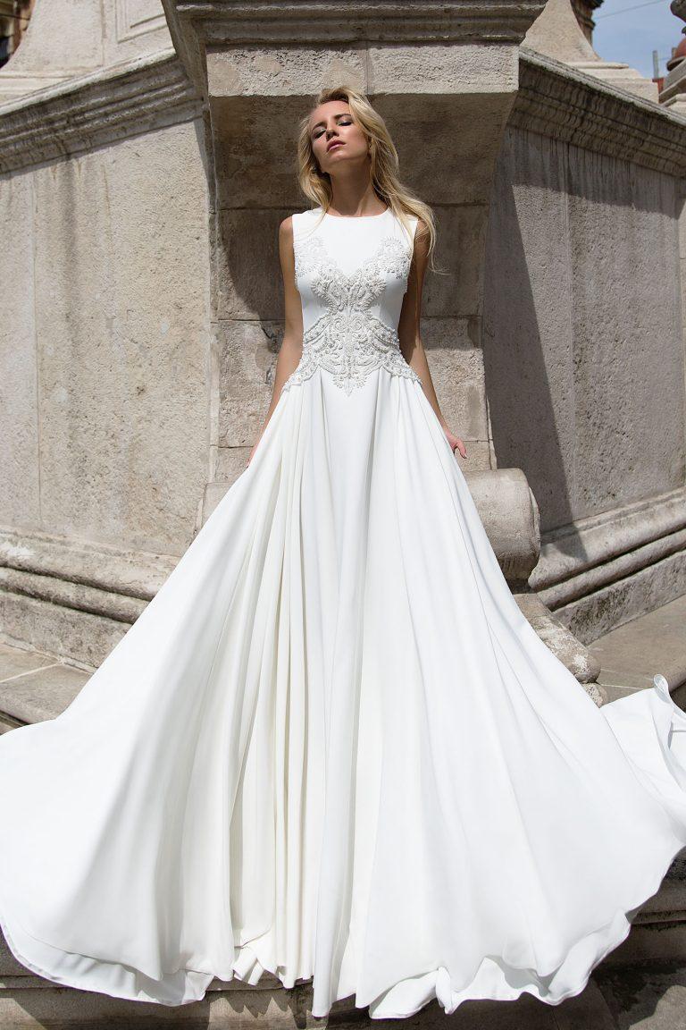 Robe de mariee en soie