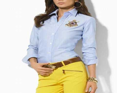 c7b596118d6a72 Je veux trouver une belle chemise femme et agréable à porter pas cher ICI  Chemise femme ralph lauren galerie lafayette