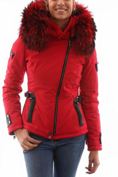 373f8206d7c Doudoune ventiuno femme fourrure rouge - Chapka