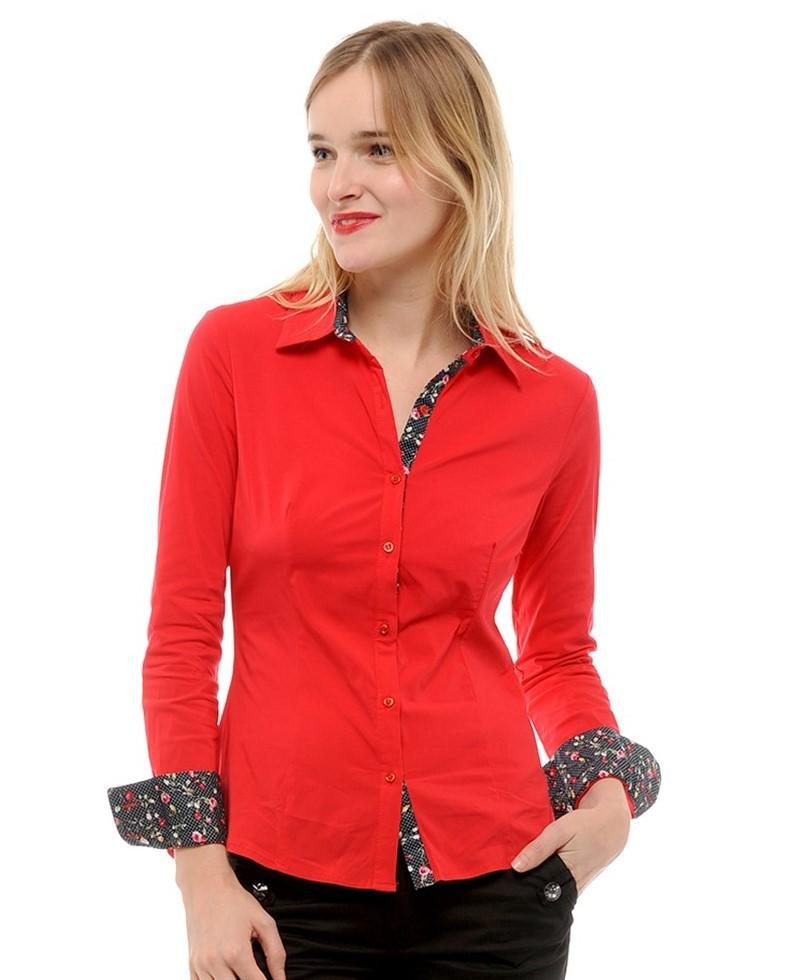 14f7e64f0cc07 Je veux trouver une belle chemise femme et agréable à porter pas cher ICI  Chemise rouge pour femme